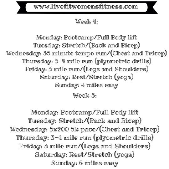Training Weeks 4-5